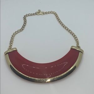 Vintage red and gold Kenneth Lane collar necklace